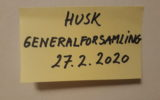 GENERALFORSAMLING TORSDAG DEN 27.2.2020